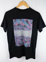 Nudie Jeans Men T-Shirt Short Sleeves Black Casual Crew Neck Cotton size S