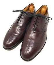 Cole Haan Wing Tip Oxfords Leather Shoes Mens Size 9 D Made In USA Burgundy