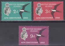 Solomon Islands 1961 ** Mi.98/100 Vögel Birds Verfassung Constitution [sq6119]