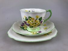 ROYAL ALBERT TRIO - ENGLAND BONE CHINA  - PRIMULETTE - VINTAGE - HIGH TEA