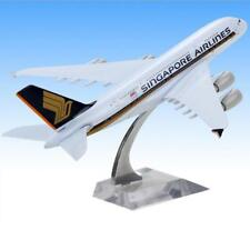 18CM Singapore A380 Aviation Airplane Display Airliner Airbus Static Model Gift