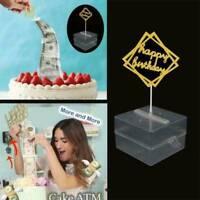 Cake ATM Happy Birthday Cake Topper Money Box Funny Happy Birthday Gift 1PC
