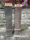 2 LARGE HEAVY Vintage Oak Wood Baluster COLUMN Newel Post Architecture Salvage