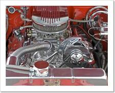 V8 Engine Compartment With Chromed Art Print Home Decor Wall Art Poster - G