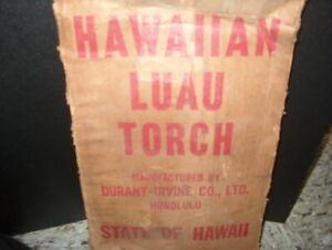 "HAWAIIAN LUAU TORCH ""VINTAGE"" NEVER USED MADE IN HAWAII COME W/ORIGINAL BOX."