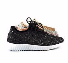 Womens Fashion Sneaker Lightweight Sequin Glitter Walking Tennis Comfort Remy-18
