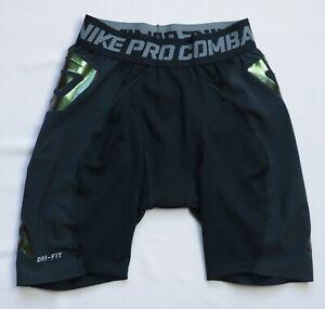 Nike Pro Combat Dri-Fit Copmression Shorts bottoms mens size S Small black