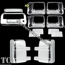 FOR 08-16 Ford F250 F350 SuperDuty Chrome Covers Set Tailgate Mirror Handles 7PC