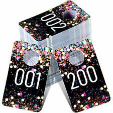 Live Plastic Number Tags Consecutive Live Number Tag Reusable 200 Multicolor