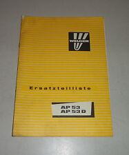 Parts Catalog/Spare Parts List Welger Press Ap 53 D Stand 03/1981