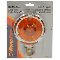 """RoadPro RPMH3010 Red Amber 4"""" Double-Face StopTurn Light Chrome"""