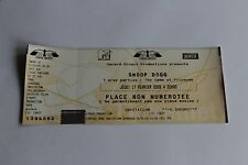Snoop Dogg - Concert Ticket / Paris Bercy Feb 2005   -  FREE SHIPPING -