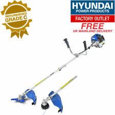 Hyundai HYBC5200X 52cc Petrol Gas Trimmer - Silver/Blue