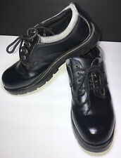 Route 66 Men's 10 Black Leather Lace Up Oxfords Work Shoes