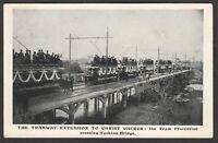 Postcard Christchurch nr Bournemouth Dorset trams on Tuckton Bridge posted 1905