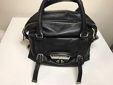 Karen Millen Limited Edition Women's Bowling medium Black Leather Handbag $ 149