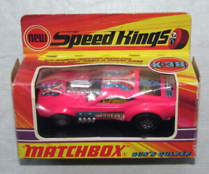 Vintage Matchbox Speed Kings K-38 Gus's Gulper Mustang Funny Car w Original Box