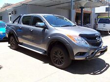 No Drill Flares for Mazda BT-50 2012 to April 2018 Matte Black Full Set