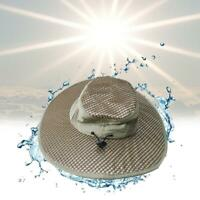 Evaporative Cooling Hat Beige One Size UV Protection W1K0