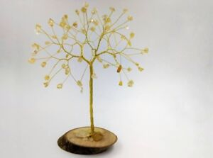 50th wedding anniversary gift, Citrine gemstone tree, golden anniversary