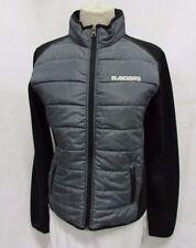 Oakland Raiders GIII Women's Medium Gray Black Quilted Puffer Jacket E76