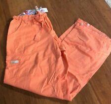 Koi By Kathy Peterson Women's Scrub Cargo Pants Size Small 701R Orange Comfy!