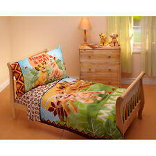 Disney Lion King Jungle Beat 4-Piece Toddler Bedding Set - Simb a & Nala