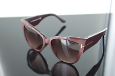 Tom Ford Cateye Sunglasses TF371 Anoushka 50F Iridescent Chalkstripe FT371 $435