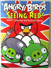 """ANGRY BIRDS GIANT Coloring & Activity Bk """"Seeing Red"""" NEW!"""