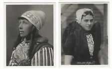 C1900'S 12 REAL PHOTOGRAPHS OF DUTCH NATIONAL COSTUMES