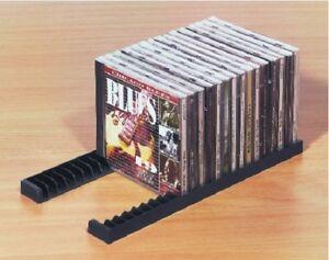 CD-Halter für 23 CDs Kunststoff schwarz CD-Ständer selbstklebend CD-Halterung