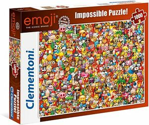 NEW Clementoni Jigsaw Puzzles Deluxe 1000 Piece Puzzle Impossible Emoji