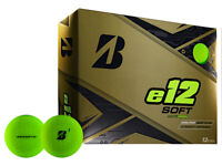 Bridgestone e12 Soft Golf Balls - 1 Dozen Matte Green -  Mens