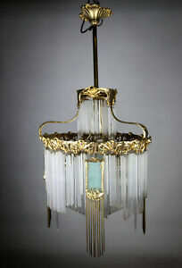 Hector Guimard Leuchter - Messing vergoldet