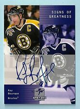 RAY BOURQUE 1999/00 UPPER DECK WAYNE GRETZKY SIGNS OF GREATNESS AUTOGRAPH AUTO