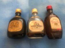 VINTAGE G & G NIKKA WHISKY MINIATURE BOTTLES