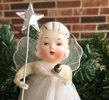 """Replacement Silver Foil Star on Metal Wand, Fits 5-9"""" Tall Vintage Angel Figure"""
