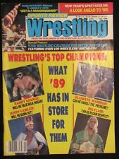 Sports Review Wrestling February 1989 Sting Ric Flair Randy Savage Jerry Lawler