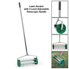 More details for gardening lawn aerator grass roller with 3 level adjustable telescopic handle