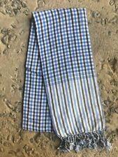 Krama BLEU traditionnel Echarpe mixte Khmère 100% COTON Tissé scarf Cambodge 110