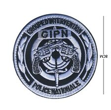 French gendarmerie GIPN ARMY BADGES EMBROIDERED HOOK PATCH   sh+ 953