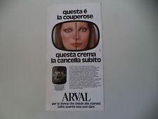 advertising Pubblicità 1981 ARVAL
