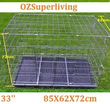 "33"" Large Collapsible Metal Pet Dog Puppy Cage--- Clearance"