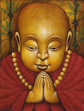 Hand painting Balinese Child Monk 255