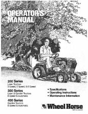 Wheel Horse 200/300/400 Series Hydro Tractor Manual