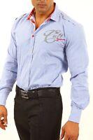 Camicia Uomo Casual Maniche Lunghe BAXMEN A530 Celeste Tg S M