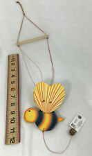 Bumblebee Wooden Articulated Pull Mobile Toy Outdoor Decor Kids Bedroom Nursery