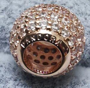 Pandora ROSE Charm 781051CZ Pavé Lights Ball ALE MET