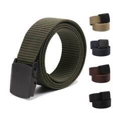 Men's Military Tactical Belt Metal Waistband Outdoor Buckle Women Nylon Belts