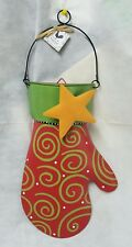Magnet Message Board CHRISTMAS MITTEN w/ METAL POCKET Embellish Your Story ROEDA